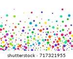 watercolor rainbow colored... | Shutterstock . vector #717321955