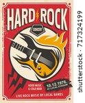 hard rock event poster template.... | Shutterstock .eps vector #717324199