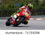 Постер, плакат: MotoGP rider Valentino Rossi