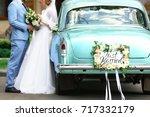 Happy Wedding Couple Near...