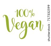 vector illustration of vegan... | Shutterstock .eps vector #717332599