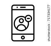 mobile user delete icon