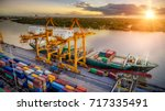 logistics and transportation of ... | Shutterstock . vector #717335491