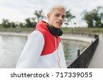 close up portrait of attractive ... | Shutterstock . vector #717339055