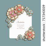 Vintage Card With Floral Corne...