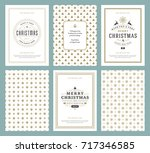 merry christmas greeting cards...   Shutterstock .eps vector #717346585