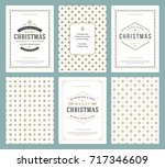 merry christmas greeting cards...   Shutterstock .eps vector #717346609