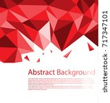 abstract red polygon background | Shutterstock .eps vector #717347101