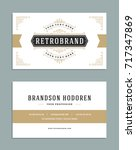 business card vintage ornament... | Shutterstock .eps vector #717347869