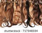 hair extension equipment of... | Shutterstock . vector #717348334