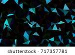 dark blue vector low poly... | Shutterstock .eps vector #717357781