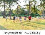 blurred group of multiethnic ... | Shutterstock . vector #717358159