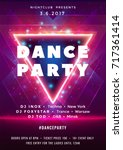 dance party poster vector... | Shutterstock .eps vector #717361414