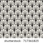 abstract art deco sea shell... | Shutterstock .eps vector #717361825