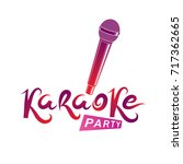 karaoke party inscription ... | Shutterstock .eps vector #717362665