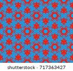 decorative seamless geometric... | Shutterstock .eps vector #717363427