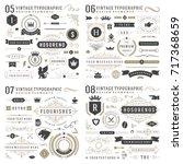 retro vintage typographic... | Shutterstock .eps vector #717368659