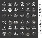 vintage logos design templates... | Shutterstock .eps vector #717368674