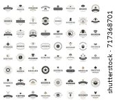 vintage logos design templates... | Shutterstock .eps vector #717368701