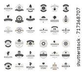 vintage logos design templates... | Shutterstock .eps vector #717368707