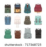 large collection of fashionable ... | Shutterstock .eps vector #717368725