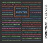 set of vector pattern brushes... | Shutterstock .eps vector #717372811