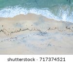 beach with aerial view. | Shutterstock . vector #717374521