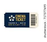 vector cinema ticket isolated... | Shutterstock .eps vector #717377695