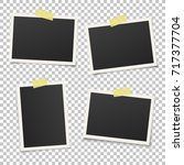 set of vintage photo frames... | Shutterstock .eps vector #717377704