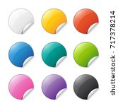 set of colored stickers with... | Shutterstock .eps vector #717378214