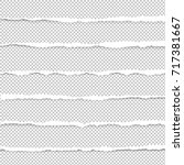 ripped paper  vector... | Shutterstock .eps vector #717381667