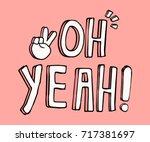 slogan vector print. for t... | Shutterstock .eps vector #717381697