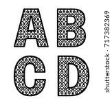 letters a  b  c  d for laser... | Shutterstock .eps vector #717382369