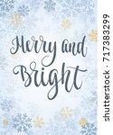 christmas frame  new year... | Shutterstock .eps vector #717383299