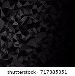 black polygonal mosaic... | Shutterstock .eps vector #717385351