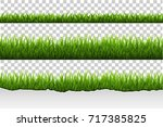 grass set  vector illustration | Shutterstock .eps vector #717385825