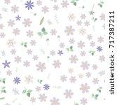 vintage romantic vector trendy... | Shutterstock .eps vector #717387211