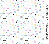 geometric seamless pattern.... | Shutterstock . vector #717390379