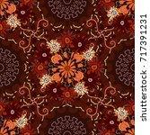 luxurious flowers  vintage...   Shutterstock . vector #717391231