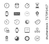 time and clock flat icons | Shutterstock .eps vector #717391417