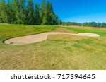 sand bunkers at the golf course. | Shutterstock . vector #717394645