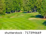 sand bunkers at the golf course. | Shutterstock . vector #717394669