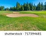sand bunkers at the golf course. | Shutterstock . vector #717394681