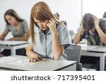 group of high school students... | Shutterstock . vector #717395401