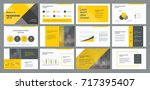 business presentation template... | Shutterstock .eps vector #717395407