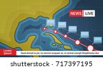 life news about hurricane... | Shutterstock .eps vector #717397195