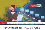 woman reporter leading life... | Shutterstock .eps vector #717397261