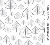 pattern seamless with autumn... | Shutterstock .eps vector #717397897