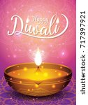 diwali festival sale banner and ... | Shutterstock .eps vector #717397921
