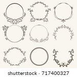 vector set of border circle...